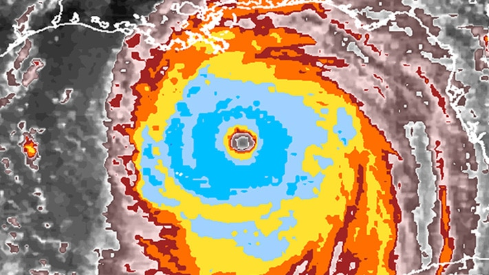 Radar image of a strong hurricane