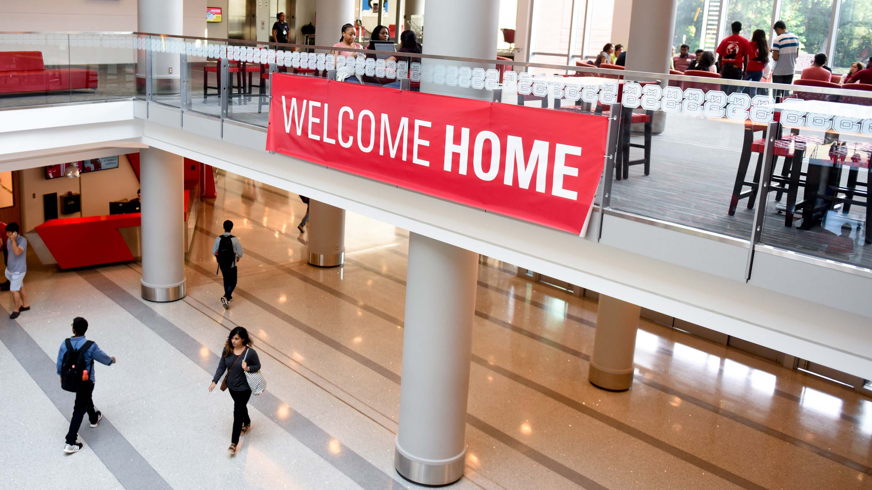 Welcome Home banner in Talley Student Union