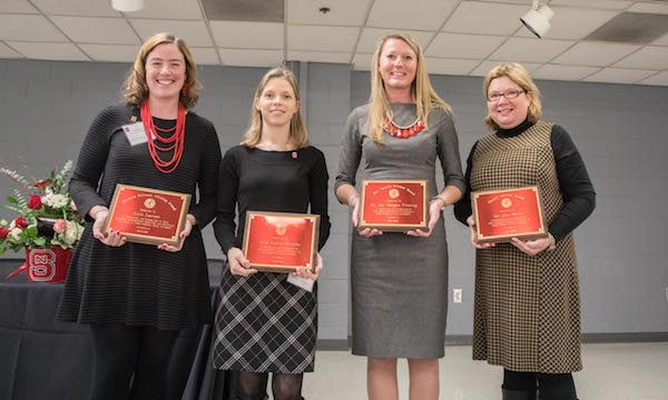 Lisa Parks and other Academic Advising Award recipients