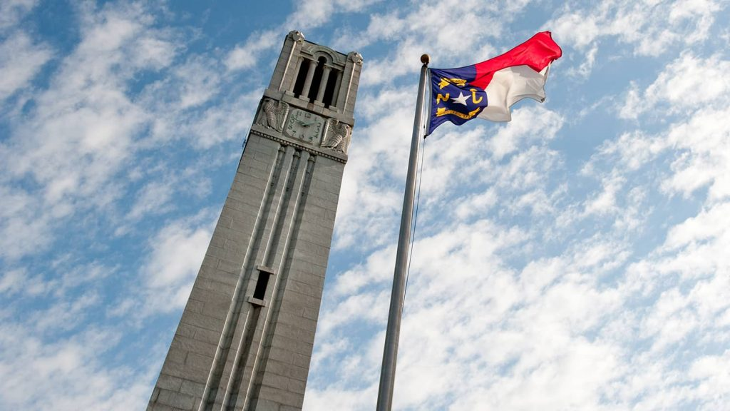 Belltower and NC Flag