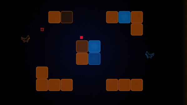 A screen capture of blocks from a video game
