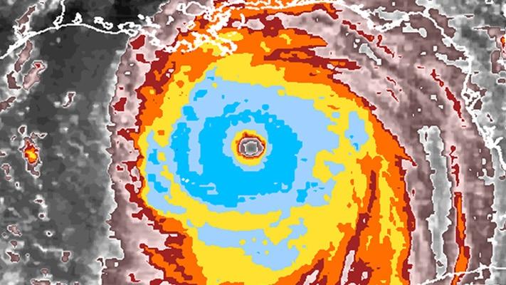 Radar image of a strong hurricane