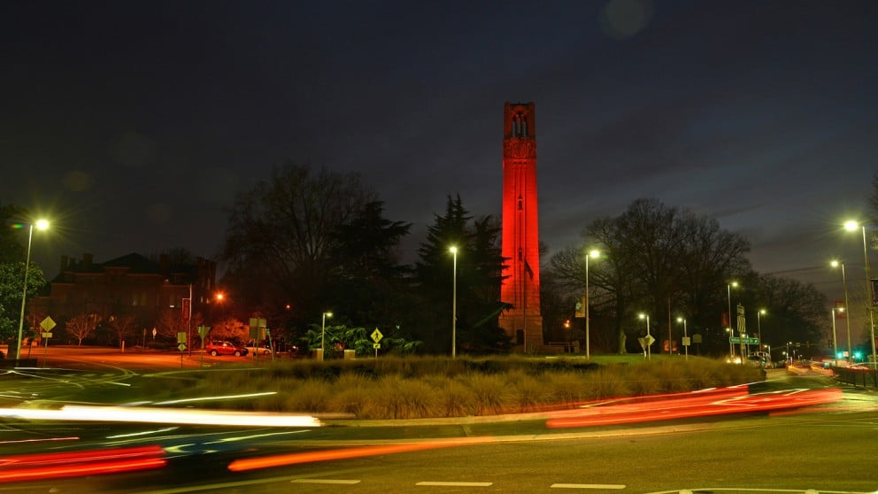Belltower at night
