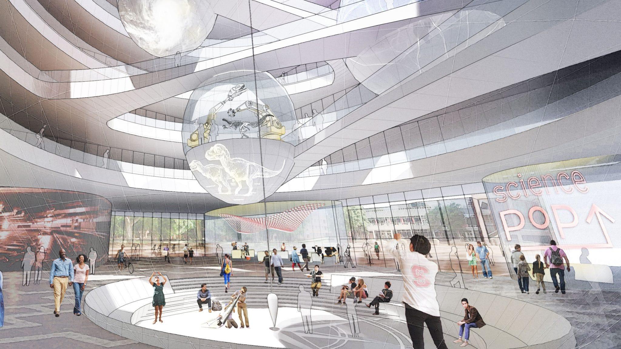 Artist's renditioning of Sciences Crossroads building