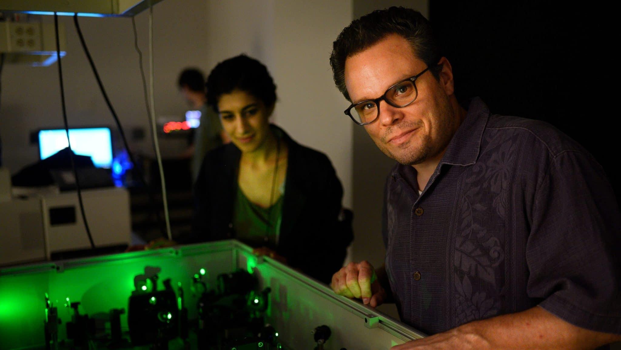 Phil Castellano in his lab on Centennial Campus