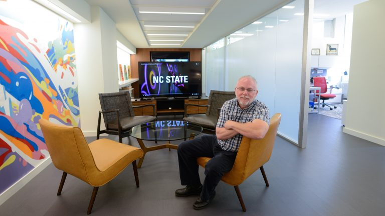 Dean Bill Ditto of the College of Sciences sits in his office in Broughton Hall