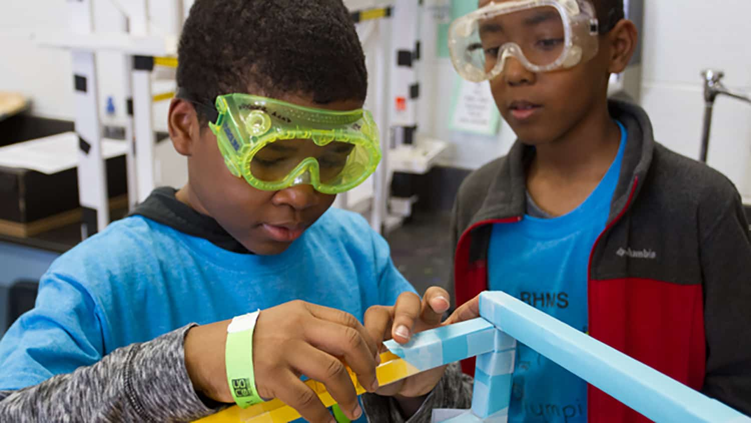 Students participating in the NC Science Olympiad