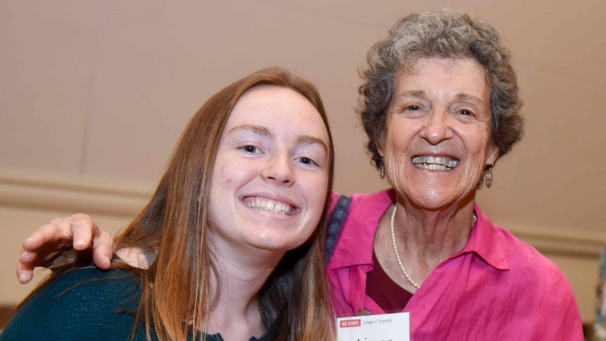 Aimee Tattersall and scholarship holder Kayla Faulk