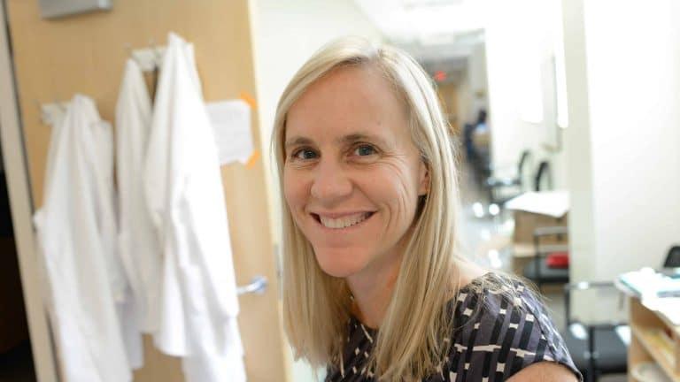 Heather Patisaul in her lab in David Clark Labs