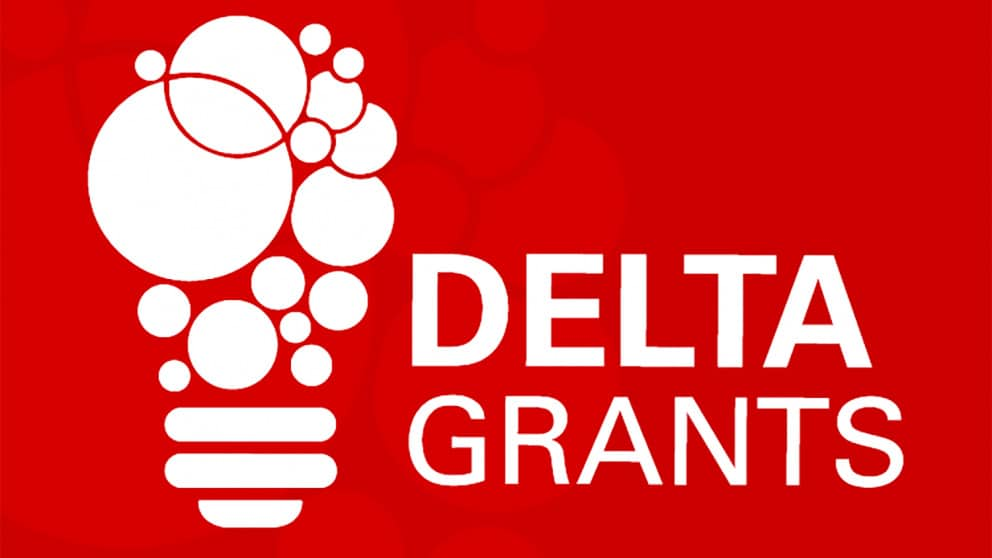 A graphic of a lightbulb and the words DELTA GRANTS