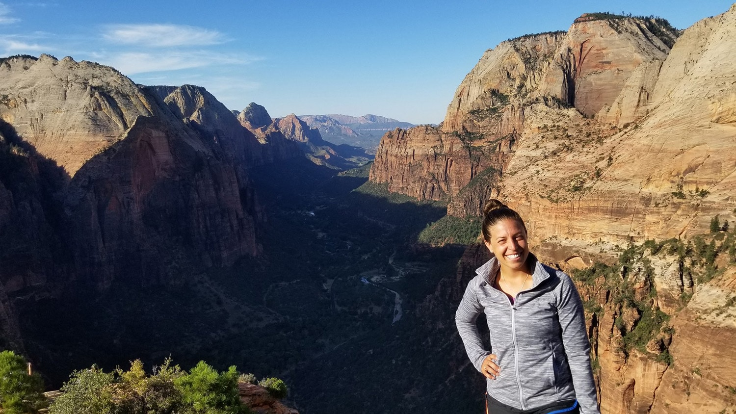 Rachel Atkins in Zion National Park