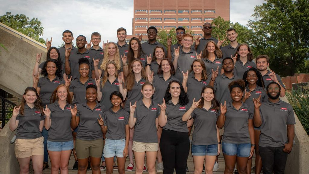 A group photo of College of Sciences ambassadors