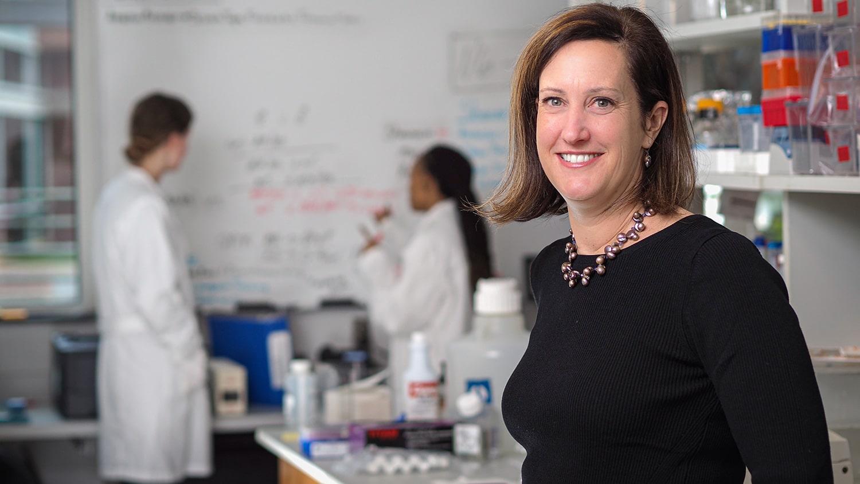 Carolyn Mattingly in her lab