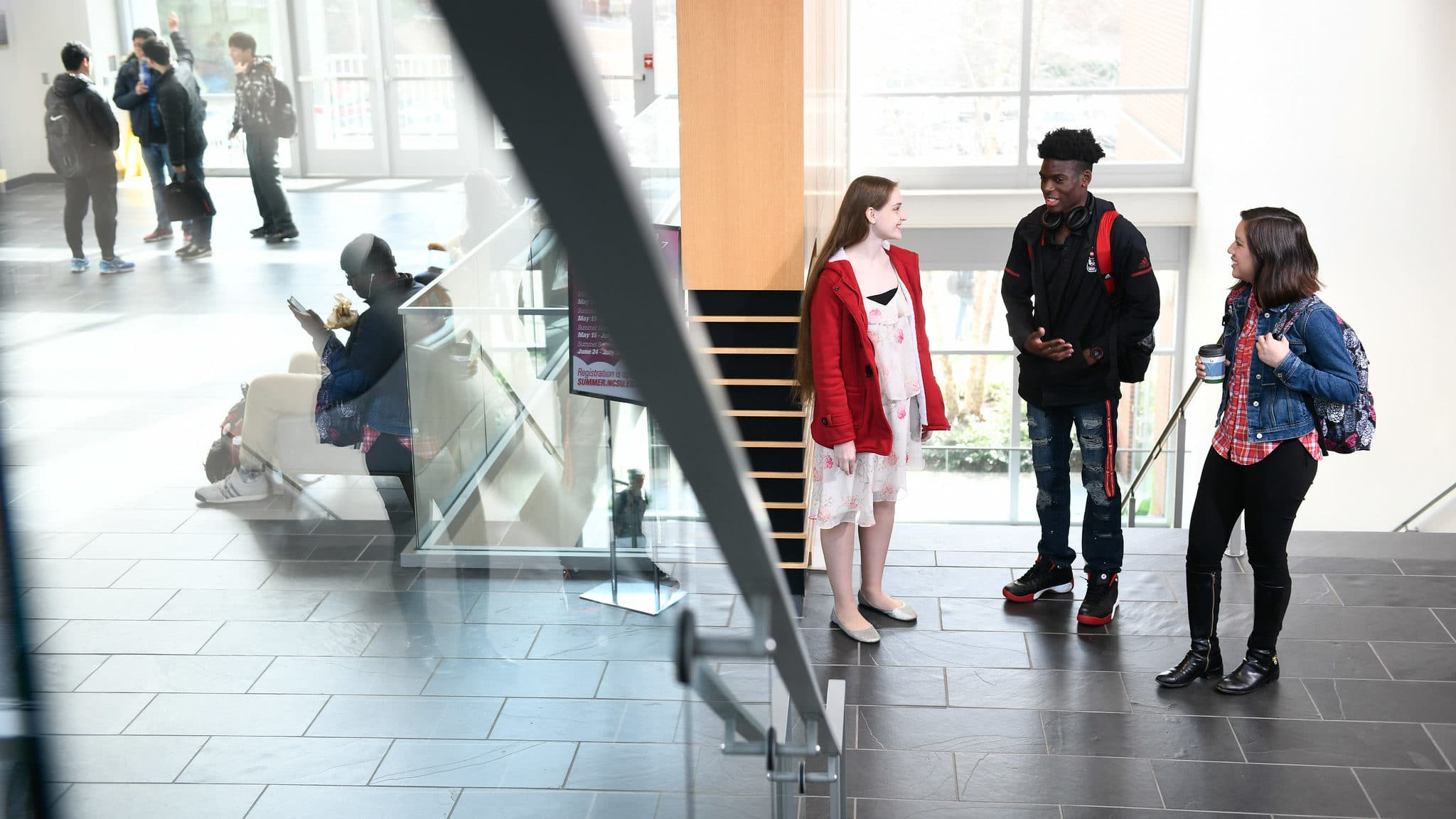 Students in SAS Hall