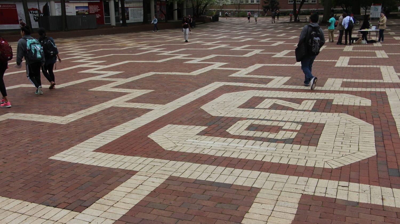 Brick NC State logo in the Brick Yard
