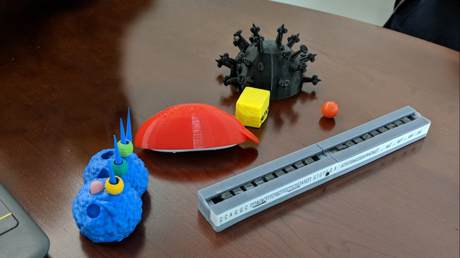 STEM learning items on a desk