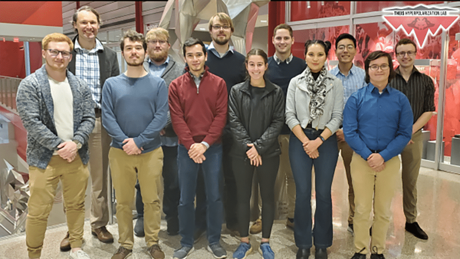 Thomas Theis and his lab group
