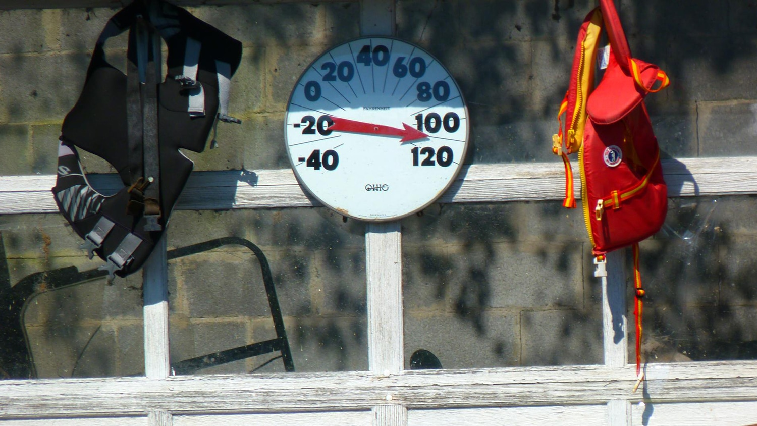 thermometer showing a temperature above 100 degrees fahrenheit