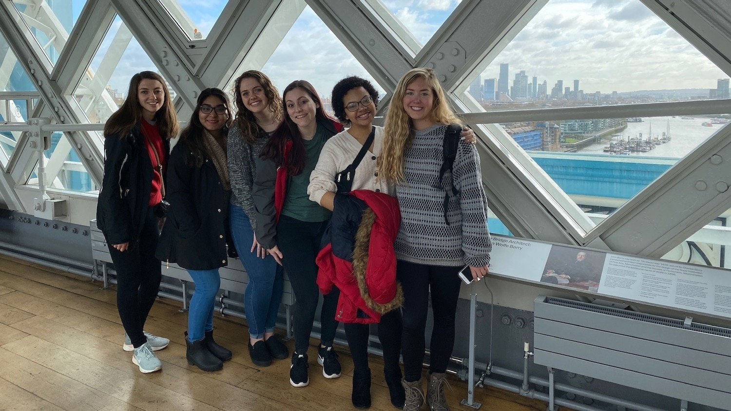 Members of the Chancellor's Leadership Development Program on a study-abroad trip.