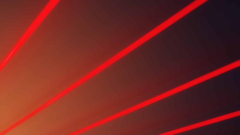 red laser beams