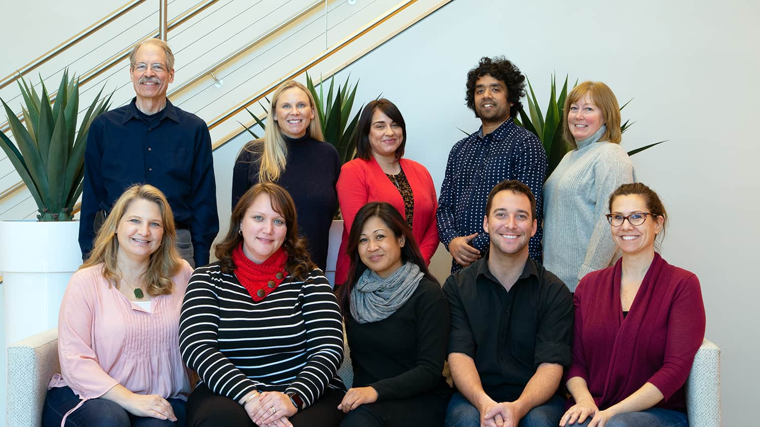 The spring 2019 OCIP team. Front row, left to right: Rebecca Sanchez, Bethany Smith, Arlene Mendoza-Moran, Christopher Beeson and Bethanne Tobey. Back row, left to right: Peter Hessling, Julianne Treme, Melissa Ramirez, Muntazar Monsur and Christine Cranford.