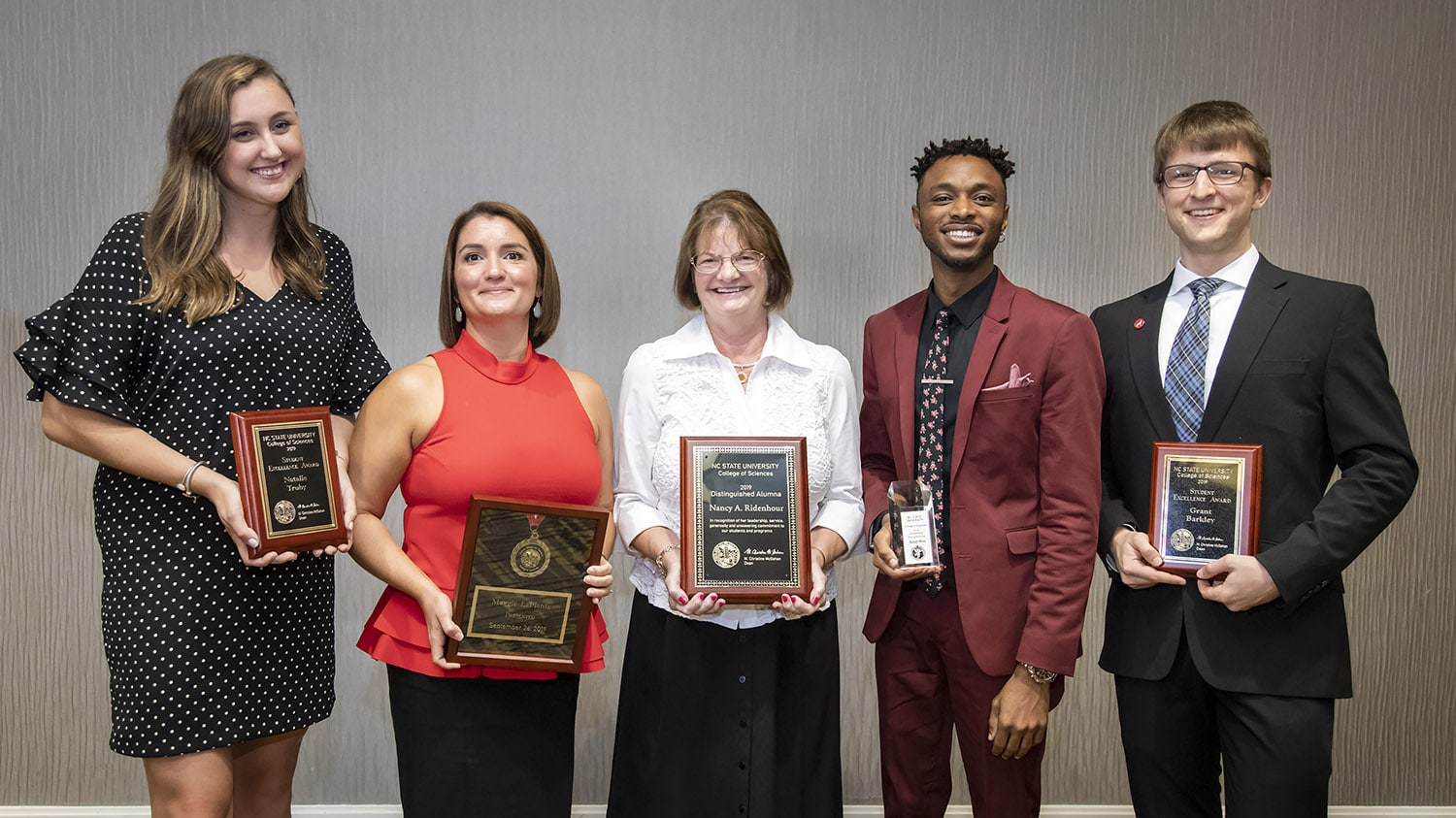 College of Sciences award winners for 2019