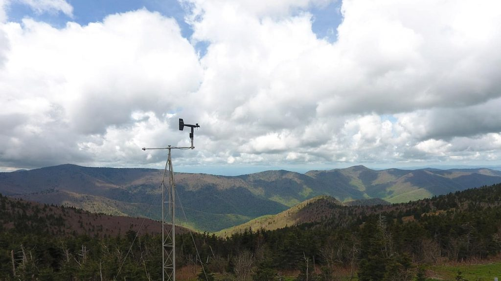 A weather station in the N.C. mountains